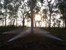North Star (sunrise) 2012 Gurruwiling Eclipse Festival Media: acrylic wool, pegs 10m x 1.5m